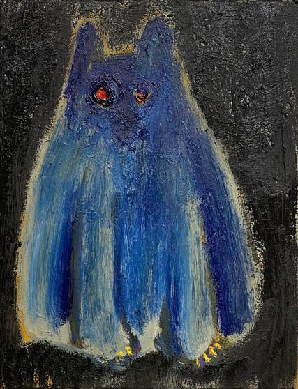 Hobbs_18- Scaredy Cat - Blue - 18 x 14 - oil on canvas - 2020.jpeg