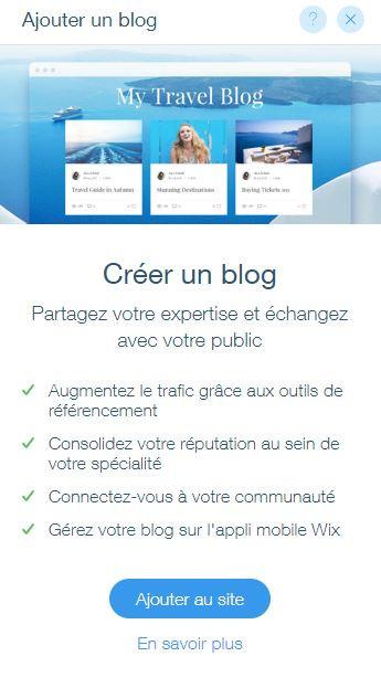 blog wix