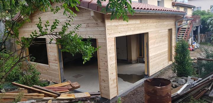 Avancée maison ossature bois