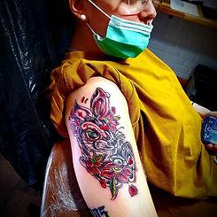 tatouage original lapin