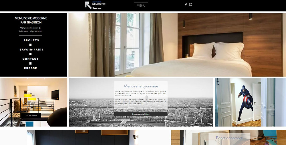 Exemple de site web réalisé avec Wix