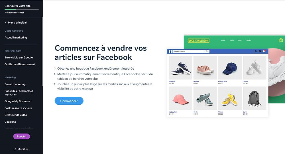Synchronisation des marketplace entre wix et autre, création d'une e-boutique via wix ecommerce
