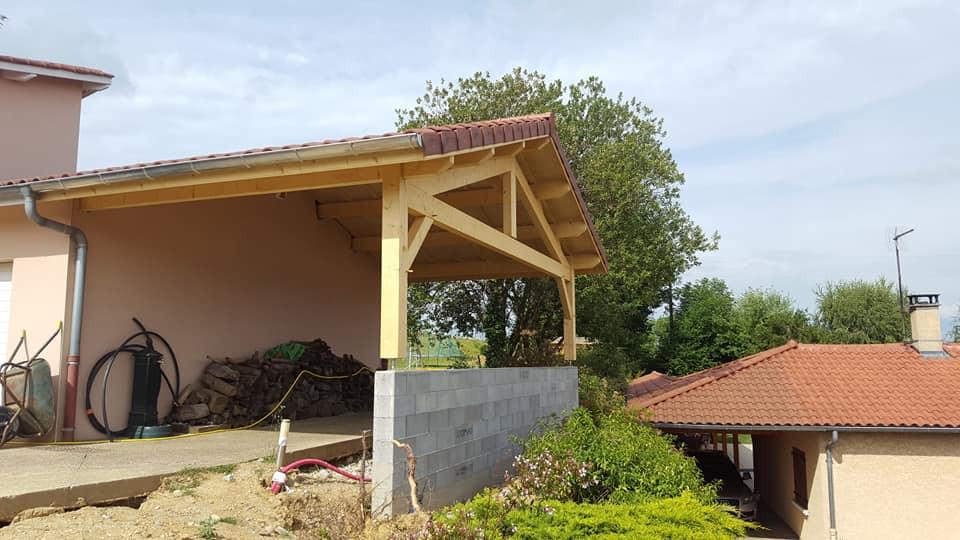Extension maison pour abri voiture