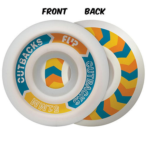 Flip Cutback Skateboard Wheels  - 51mm 99A