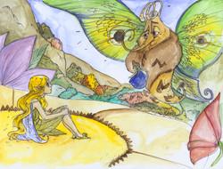 A fairy afraid to fly? How peculiar.
