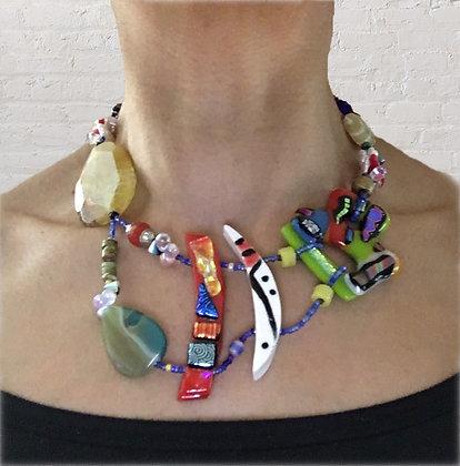Multi-color Art Necklace