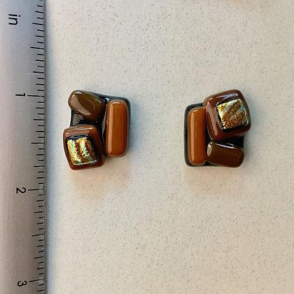 Brown Copper Cufflinks