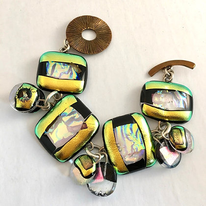 Amber/Gold Charm Bracelet (medium)