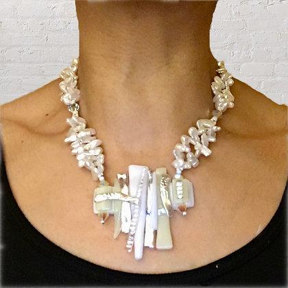 White Cream Pearl Necklace