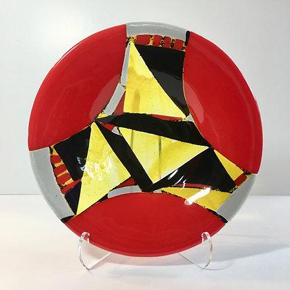 """Javelin"" Fused Glass Bowl"
