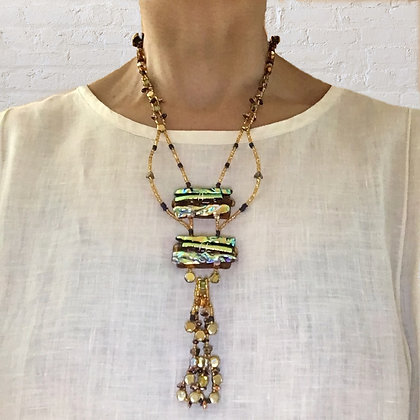 Amber 2-Piece Necklace w/removable pendant