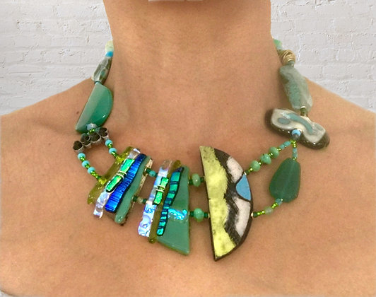 Jade Green Art Necklace