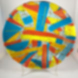 "fused glass bowl - 12"" diameter"