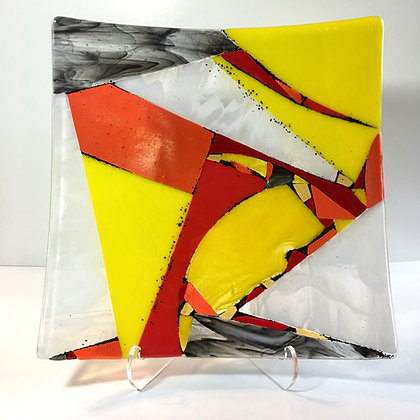 """fused glass plate """"kite"""""""