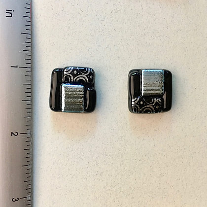 Black Silver 2 Cufflinks