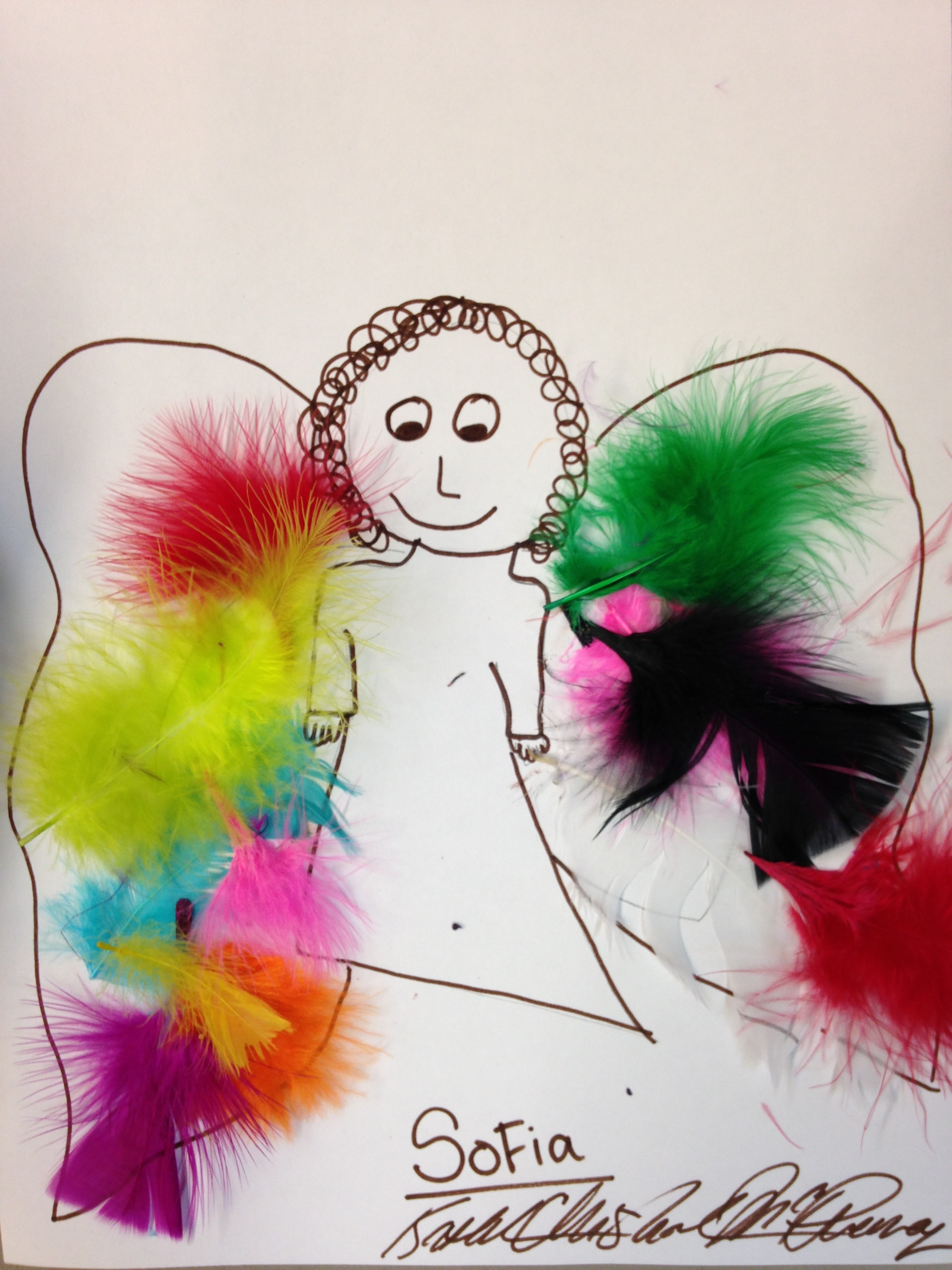 ANGEL WITH COLORFUL FEATHERS