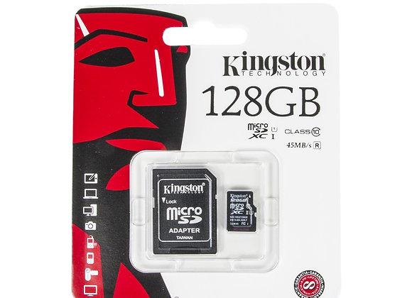 Micro SD Kingston de 128 GB Clase 10