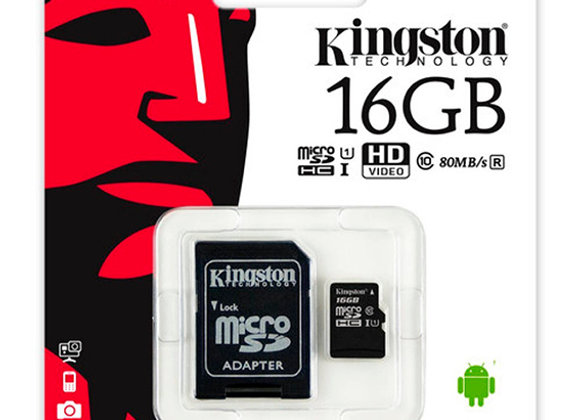 Micro SD 16 GB de Kingston Clase 10