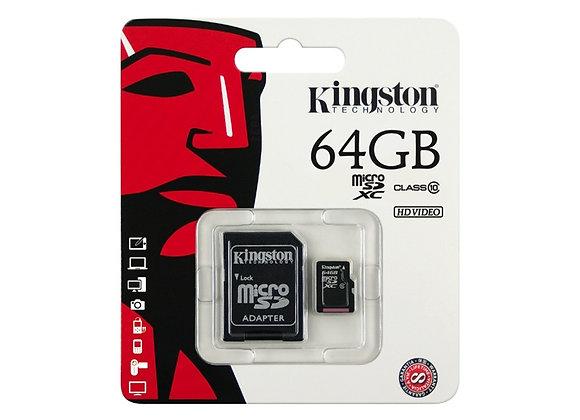 Micro SD de 64 GB de Kingston clase 10