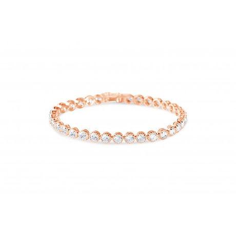 Rose gold tennis bracelet B18473RG PL.jp