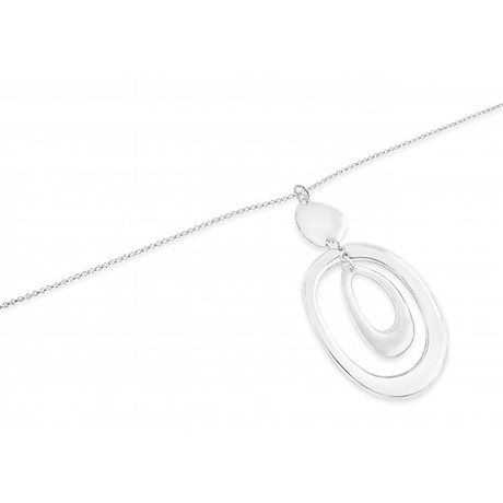 Rhodium plated pendant necklace N19042 1