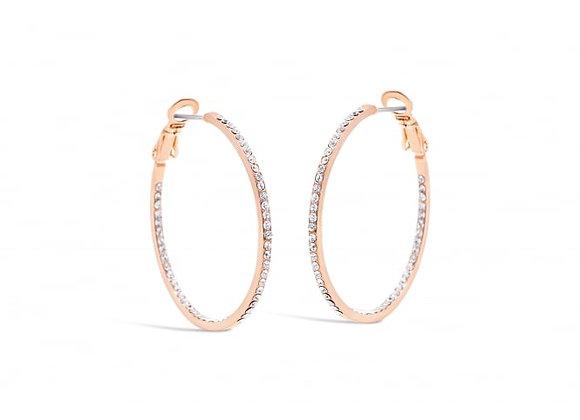 Iris Hoop rose gold earring
