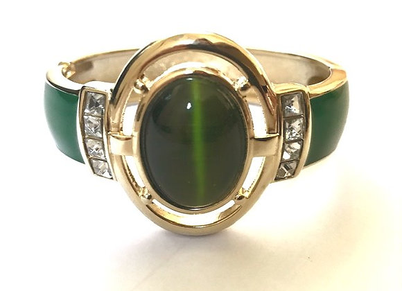 Rose bangle - Emerald Green
