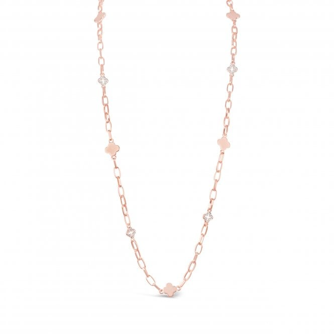 Golden Clover rose gold necklace