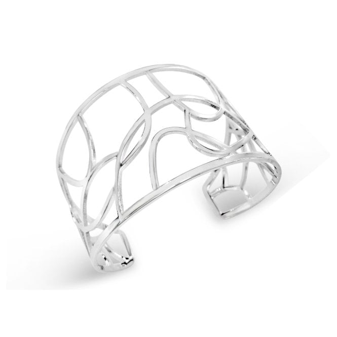 Rhodium plated geometric bangle B19152 P