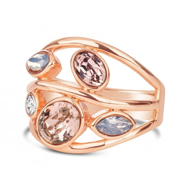 Rose gold opaque stone ring R18664 PL.jp