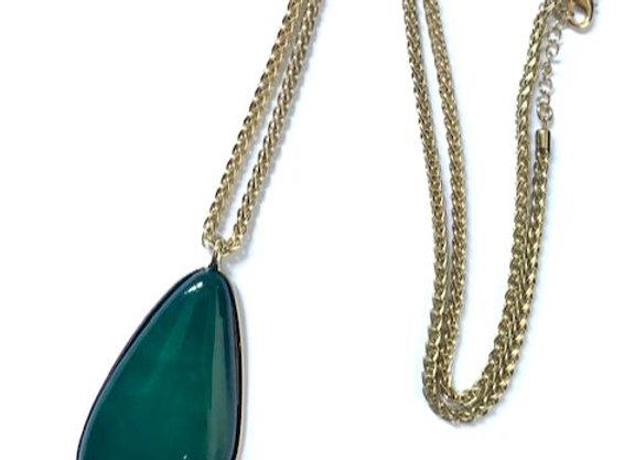 Foxglove pendant - Emerald Green