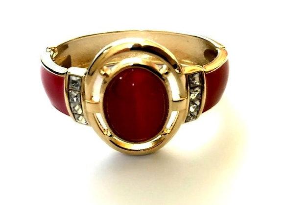 Rose bangle - Ruby red