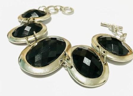 Black resin bracelet