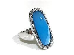 Blue retro ring