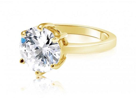 Lotus gold ring
