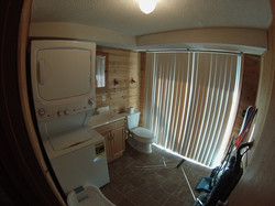 Guest laundry and half bath