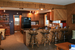 Full kitchen with bar seating