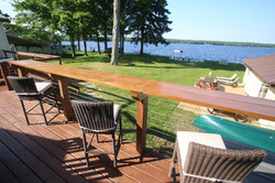 Bar seating on deck