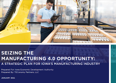 TechWorks featured in the State's Strategic Plan For Iowa's Manufacturing Industry and Industry 4.0