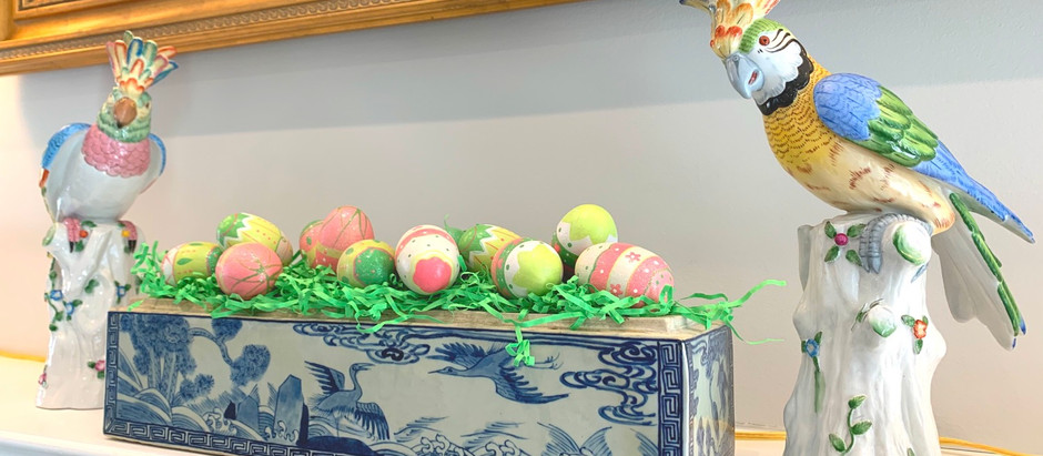 Filling a Container with Easter Eggs