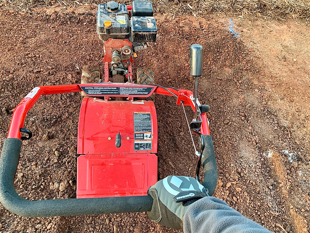 Tilling with my trusty Troy Built