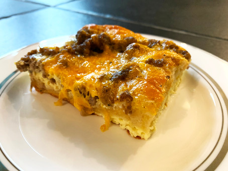 David's Ultimate Make Ahead Sausage Egg & Cheese Casserole