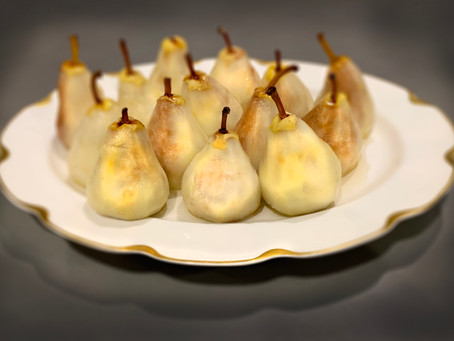 Poached Pears, Easy French Elegance