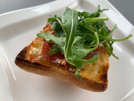 Fig, Prosciutto and Goat Cheese Ciabatta Pizza