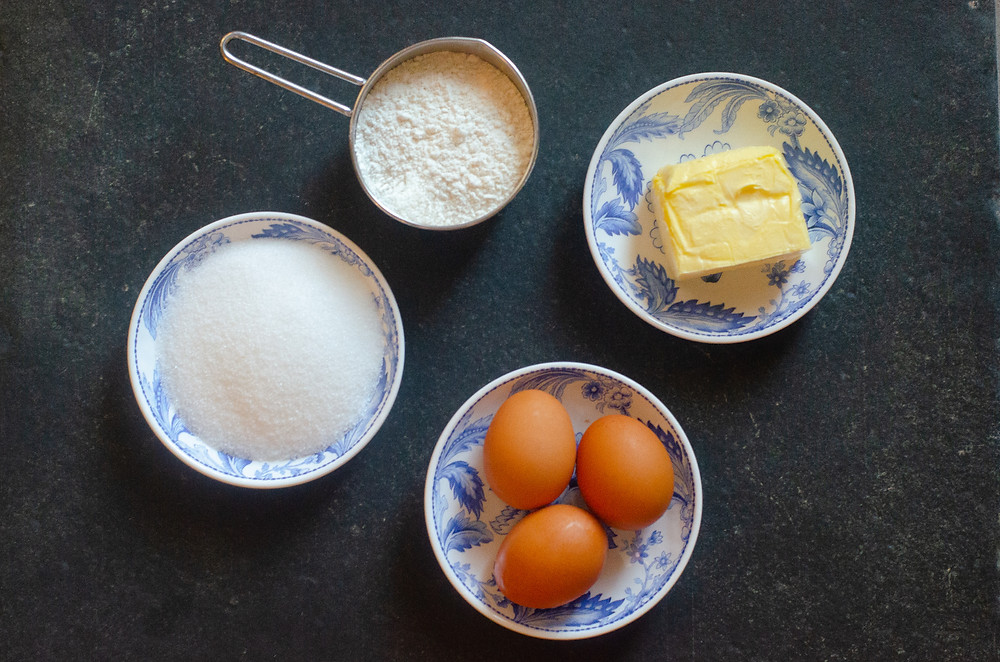 Main Ingredients for Clafoutis Batter