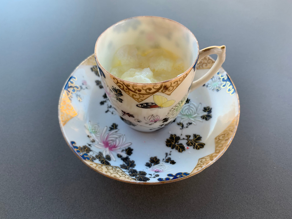 Our Southern Boiled Custard is always served in antique demitasse.