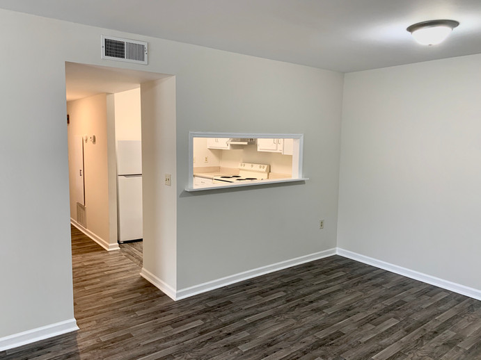 Dining Area in Ground Level Unit