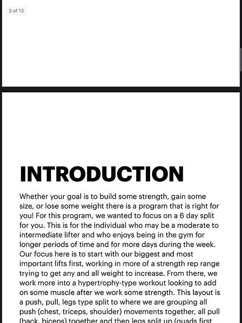 BFP 6 Day Workout Plan