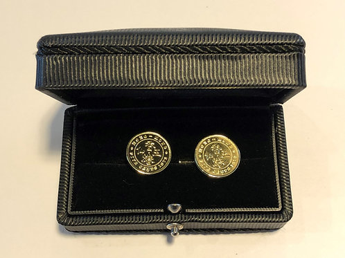 Set of 18k Gold Plated Cuff link - Hong Kong 5 Cents Coin