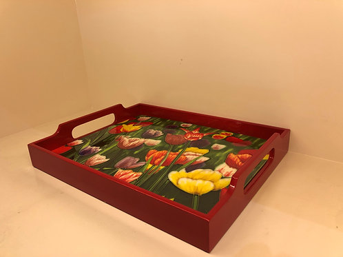 Tile Tray -Flowers